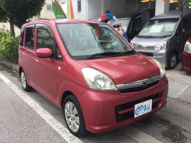 沖縄の中古車 スバル ステラ 車両価格 19.8万円 リ済別 2008(平成20)年 10.6万km ベリールージュパール