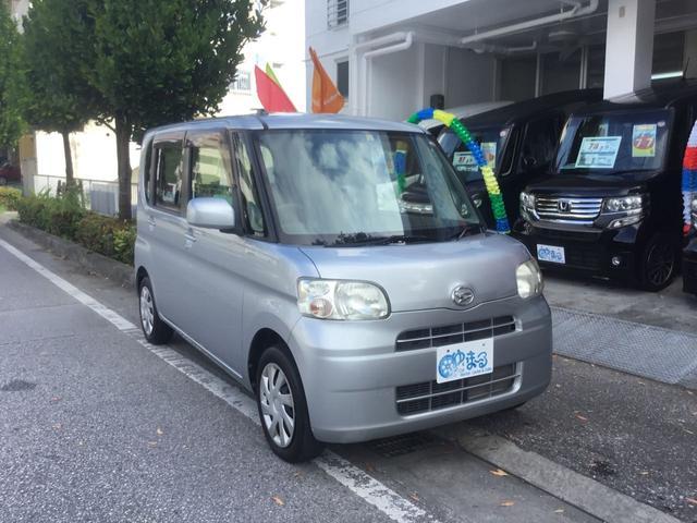 沖縄県の中古車ならタント L 衝突安全ボディ ドアバイザー AM/FMチューナーオーディオ ベンチシート CD フルフラット 車検整備付 保証付
