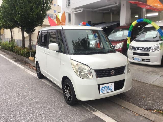 沖縄県の中古車ならパレット Gリミテッド 特別仕様車 プッシュスタート スマートキー スライドドア CD チルトステアリング AUX ベンチシート 社外アルミ ドアバイザー 車検整備付 保証付