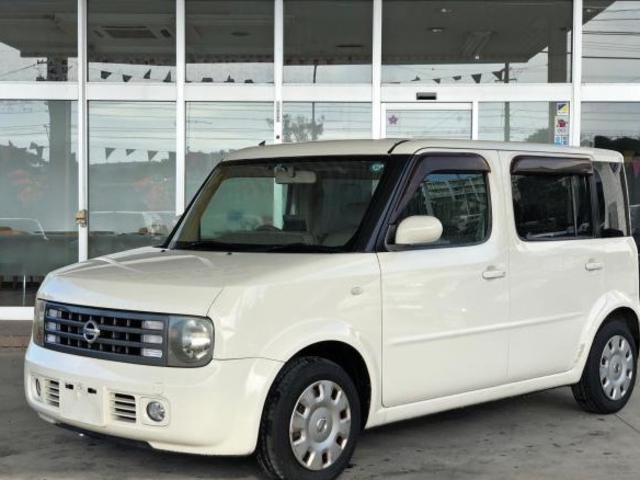沖縄の中古車 日産 キューブキュービック 車両価格 26万円 リ済別 2006(平成18)年 14.0万km アイボリーホワイト