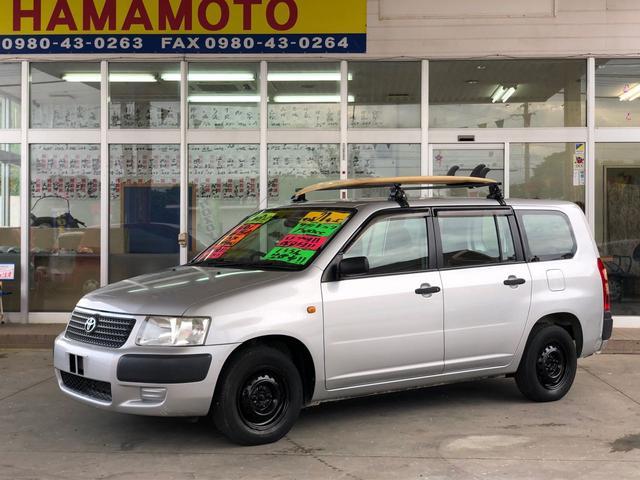 沖縄の中古車 トヨタ サクシードバン 車両価格 39万円 リ済別 2009(平成21)年 16.2万km シルバーM