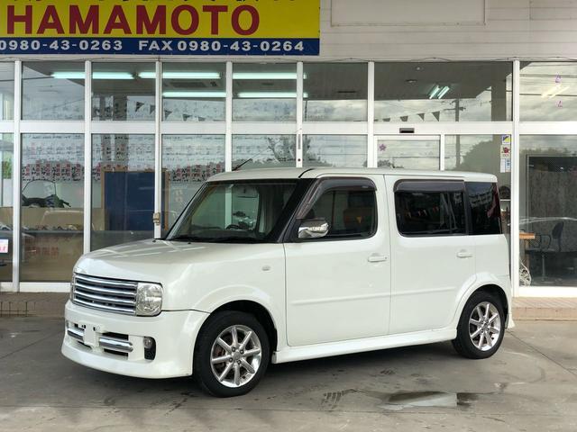 沖縄の中古車 日産 キューブキュービック 車両価格 39万円 リ済別 2004(平成16)年 13.9万km ホワイトII