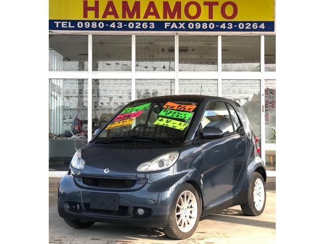 沖縄の中古車 スマート スマートフォーツークーペ 車両価格 66万円 リ済別 2008(平成20)年 2.0万km グレーM