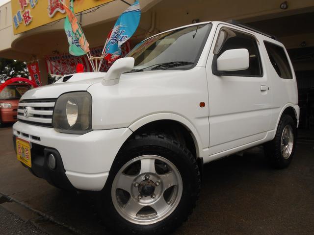沖縄の中古車 マツダ AZオフロード 車両価格 45万円 リ済別 2003(平成15)年 13.9万km ホワイト