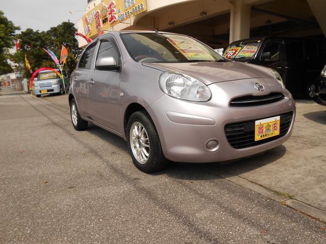 沖縄の中古車 日産 マーチ 車両価格 35万円 リ済別 2011(平成23)年 7.9万km パープル