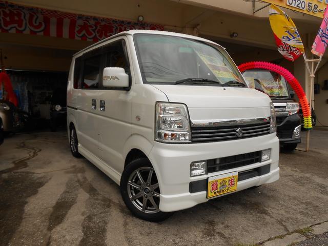 沖縄県の中古車ならエブリイワゴン PZターボスペシャル・車高調・HID・木目内装・社外ホーン