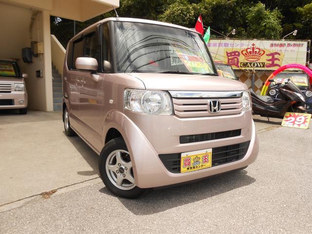 沖縄の中古車 ホンダ N-BOX 車両価格 68万円 リ済別 2012(平成24)年 8.2万km ピンク