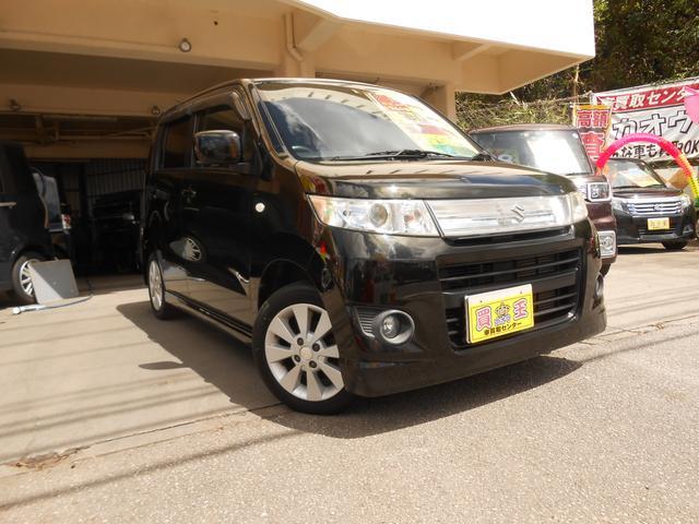 沖縄の中古車 スズキ ワゴンRスティングレー 車両価格 38万円 リ済別 2009(平成21)年 8.7万km ブラック
