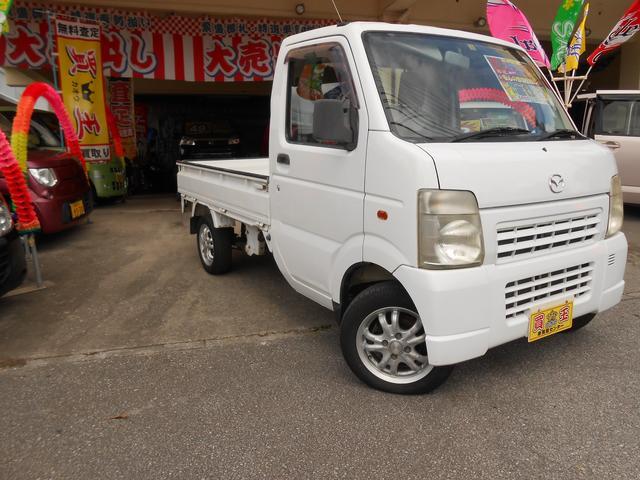 沖縄の中古車 マツダ スクラムトラック 車両価格 39万円 リ済別 2002(平成14)年 8.7万km ホワイト