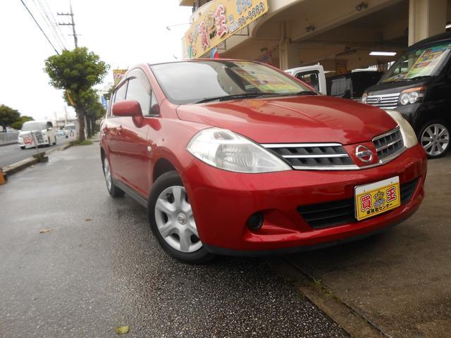 沖縄の中古車 日産 ティーダ 車両価格 29万円 リ済込 2009(平成21)年 7.6万km レッド