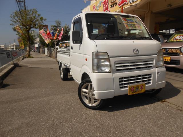 沖縄の中古車 マツダ スクラムトラック 車両価格 43万円 リ済込 2011(平成23)年 9.1万km ホワイト