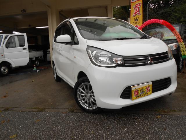 沖縄の中古車 三菱 eKワゴン 車両価格 38万円 リ済込 2014(平成26)年 14.2万km ホワイト