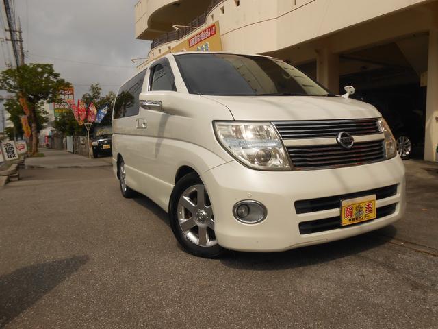 沖縄の中古車 日産 エルグランド 車両価格 39万円 リ済込 2008(平成20)年 12.9万km パールホワイト
