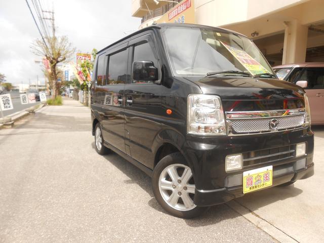 沖縄の中古車 マツダ スクラムワゴン 車両価格 45万円 リ済込 2010(平成22)年 13.2万km ブラック