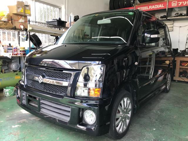 沖縄の中古車 スズキ ワゴンR 車両価格 35万円 リ済込 平成19年 11.2万km スパークブラックパール