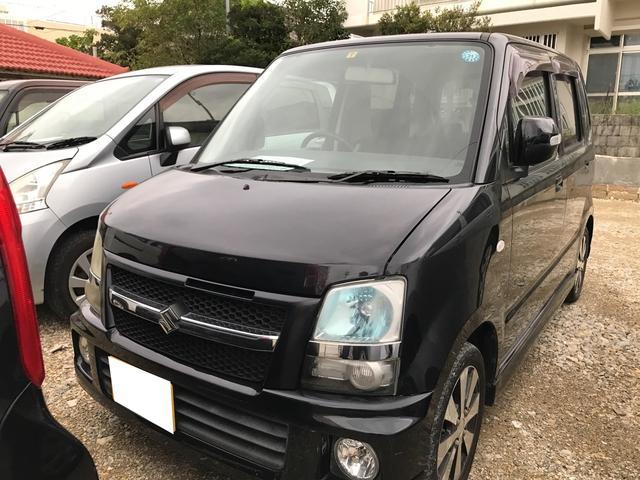 沖縄の中古車 スズキ ワゴンR 車両価格 25万円 リ済込 2007(平成19)年 10.7万km ブルーイッシュブラックパール3