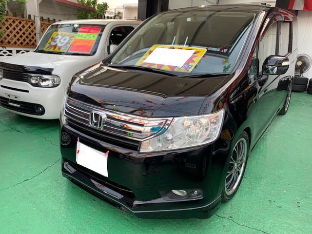 沖縄の中古車 ホンダ ステップワゴン 車両価格 59万円 リ済込 2011(平成23)年 12.7万km クリスタルブラックパール