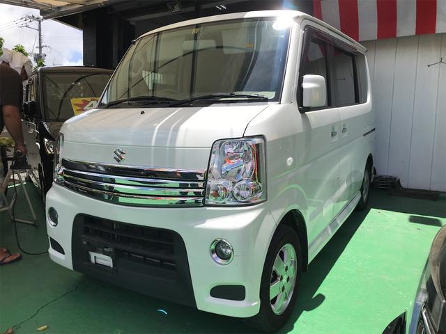 沖縄の中古車 スズキ エブリイワゴン 車両価格 62万円 リ済込 2013(平成25)年 12.3万km パールホワイト