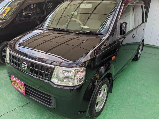 沖縄市 Peach auto 日産 オッティ E ベンチシート Wエアバッグ ブラック 10.7万km 2007(平成19)年