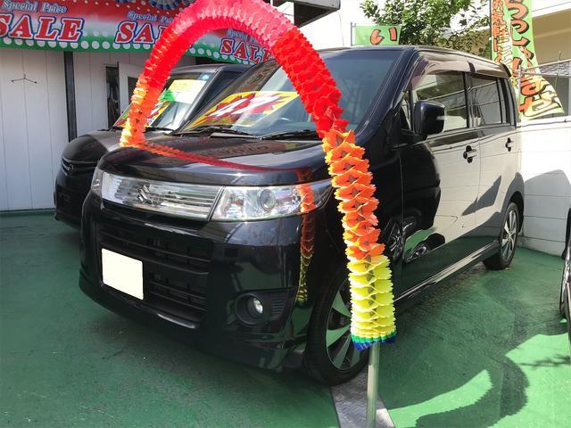 沖縄の中古車 スズキ ワゴンRスティングレー 車両価格 47万円 リ済込 2012(平成24)年 11.0万km ブルーイッシュブラックパール3