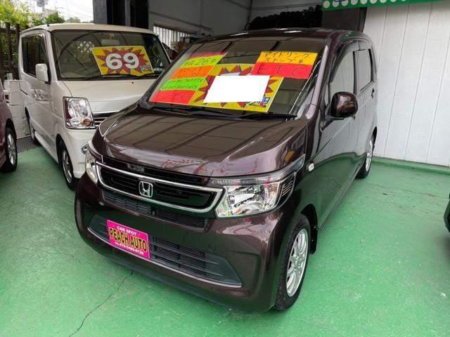 沖縄県の中古車ならN-WGN G・ターボパッケージ スマートキー プッシュスタート ナビ TV Bluetooth