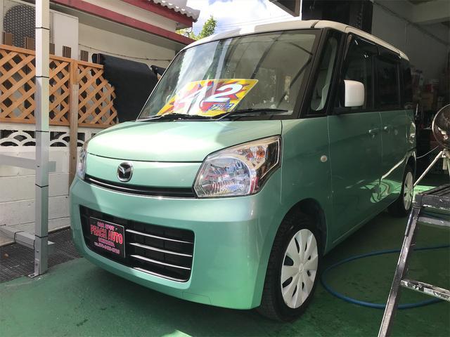 沖縄県沖縄市の中古車ならフレアワゴン XS スマートキー プッシュスタート 両側パワースライド アイドリングストップ 純正ナビ TV