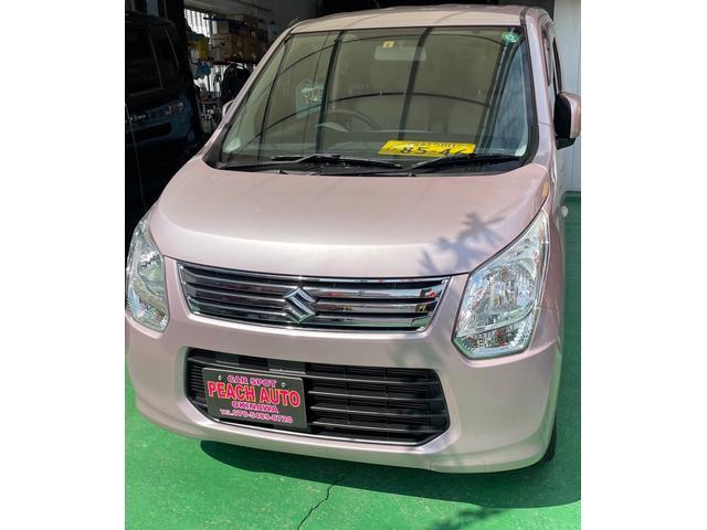 沖縄の中古車 スズキ ワゴンR 車両価格 39万円 リ済込 2013(平成25)年 9.2万km イノセントピンクパールM