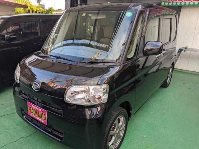 沖縄県の中古車ならタント L キーレス アイドリングストップ スライドドア ナビ TV