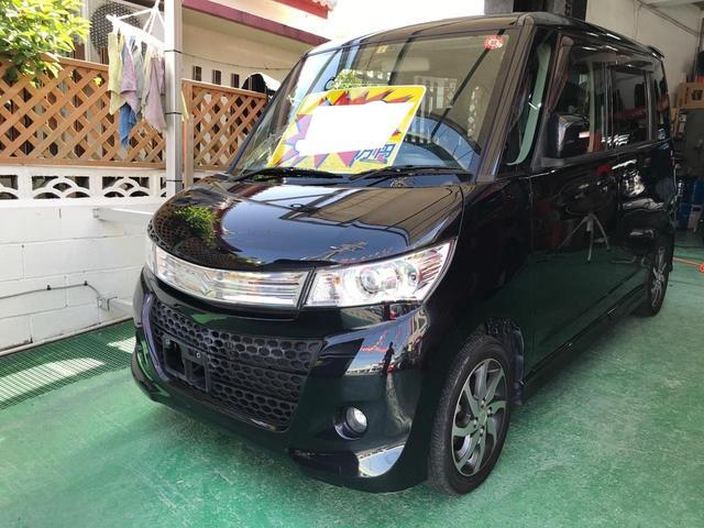 沖縄の中古車 スズキ パレットSW 車両価格 38万円 リ済込 2012(平成24)年 11.4万km スパークブラックパール