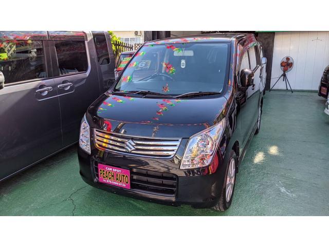 沖縄の中古車 スズキ ワゴンR 車両価格 29万円 リ済込 2012(平成24)年 11.8万km ブルーイッシュブラックパール3