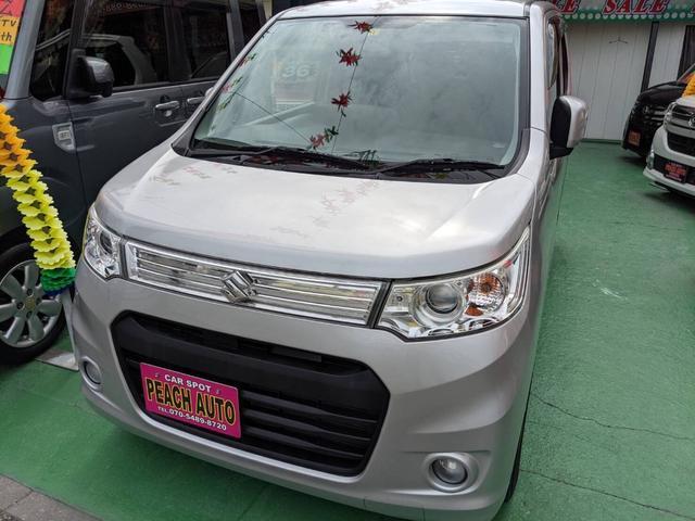 沖縄県の中古車ならワゴンRスティングレー T インタークーラーターボ スマートキー プッシュスタート