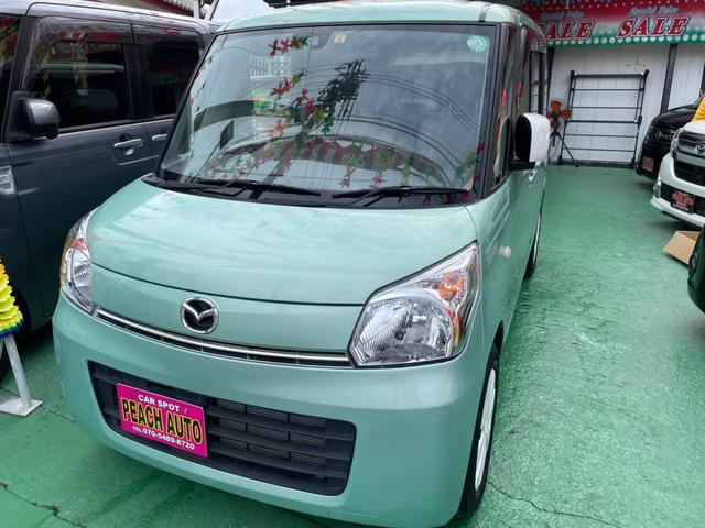 沖縄県沖縄市の中古車ならフレアワゴン XG スマートキー プッシュスタート 両側スライドドア アイドリングストップ 衝突軽減システム CD ベンチシート