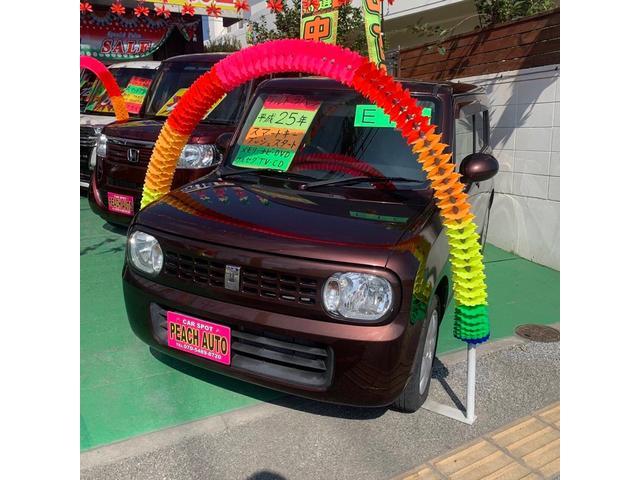 沖縄県の中古車ならアルトラパン G スマートキー2個 プッシュスタート ナビ TV 純正アルミ