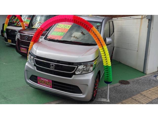 沖縄の中古車 ホンダ N-WGN 車両価格 42万円 リ済込 2016(平成28)年 12.0万km ルナシルバーメタリック