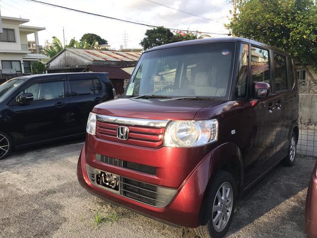 沖縄県の中古車ならN-BOX G・Lパッケージ スマートキー プッシュスタート アイドリングストップ 両側スライドドア Kenwoodナビ TV Bluetooth