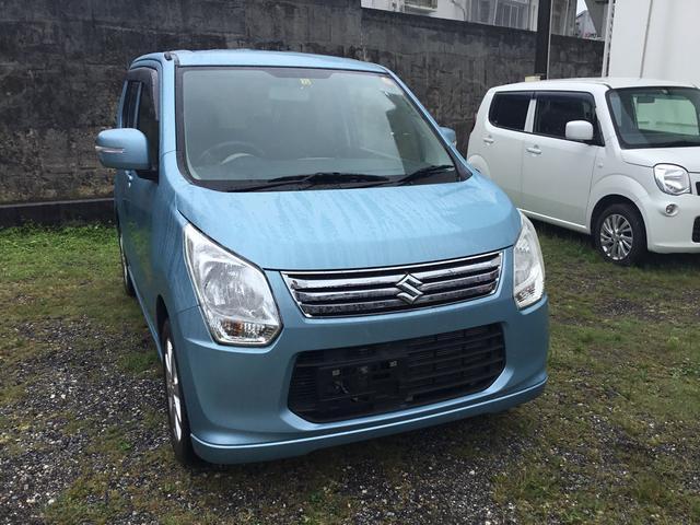 沖縄の中古車 スズキ ワゴンR 車両価格 63万円 リ済込 2013(平成25)年 4.1万km ブルーM