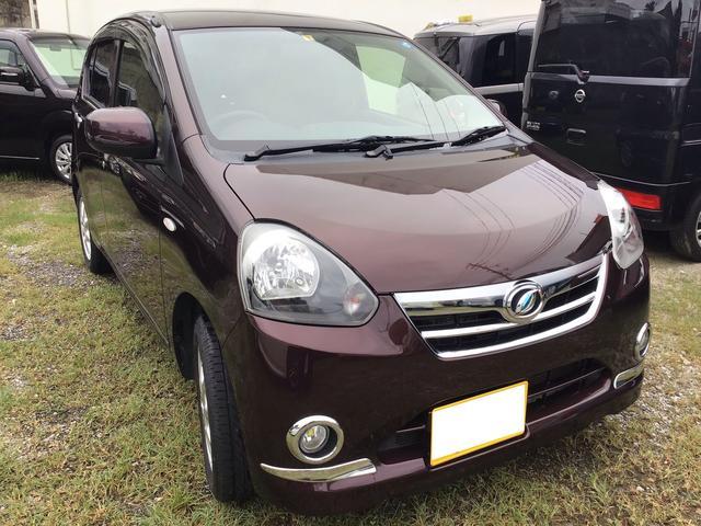 沖縄の中古車 ダイハツ ミライース 車両価格 44万円 リ済込 2012(平成24)年 7.7万km ブラウン