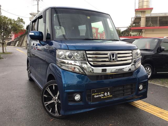 沖縄県の中古車ならN-BOXカスタム G SSパッケージ 両側パワースライドドア 衝突被害軽減ブレーキ 16インチホイール 保証付