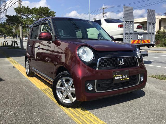 沖縄の中古車 ホンダ N-ONE 車両価格 65万円 リ済込 2013(平成25)年 3.9万km プレミアムディープロッソパールII