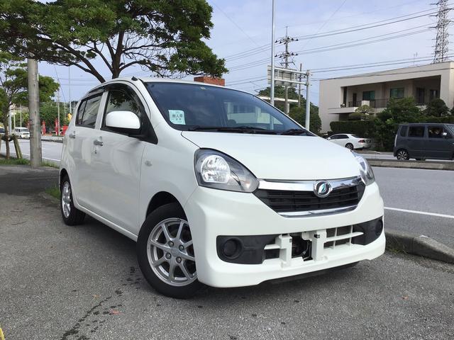 沖縄の中古車 ダイハツ ミライース 車両価格 39万円 リ済込 2014(平成26)年 2.2万km ホワイト