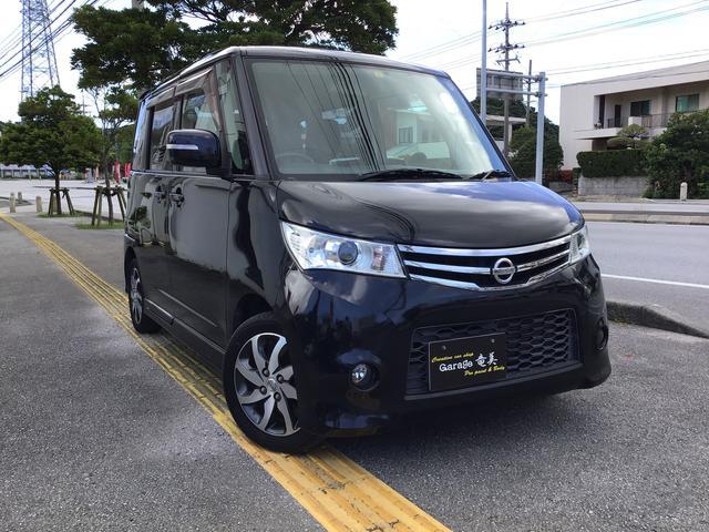 沖縄の中古車 日産 ルークス 車両価格 59万円 リ済込 2012(平成24)年 7.6万km ブラック