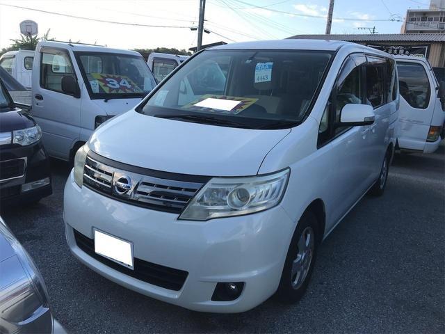 沖縄の中古車 日産 セレナ 車両価格 49.5万円 リ済込 2009(平成21)年 12.0万km パールホワイト