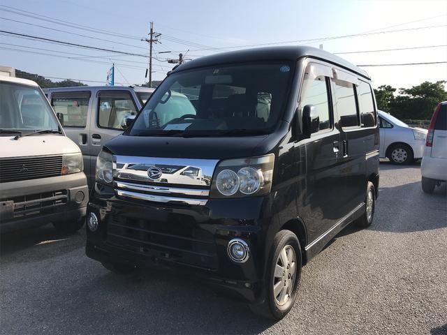 沖縄の中古車 ダイハツ アトレーワゴン 車両価格 39万円 リ済込 2005(平成17)年 12.3万km ブラック