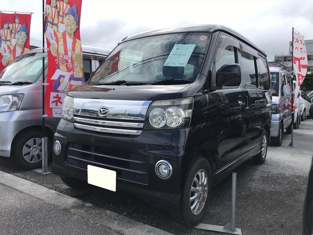 沖縄の中古車 ダイハツ アトレーワゴン 車両価格 45万円 リ済込 2006(平成18)年 10.7万km ブラック
