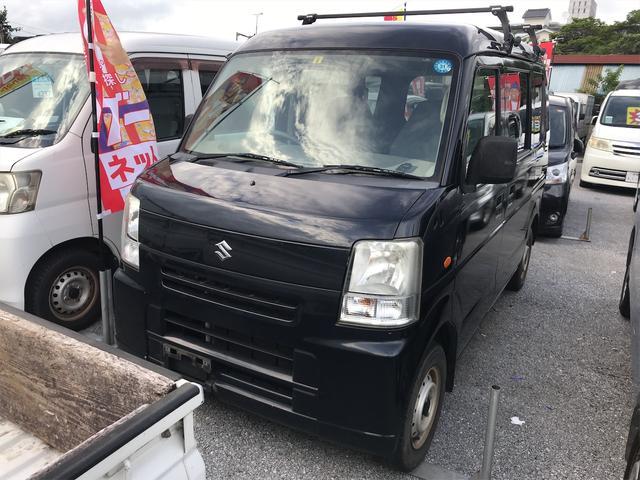 沖縄の中古車 スズキ エブリイ 車両価格 34万円 リ済込 2008(平成20)年 14.3万km ブラック