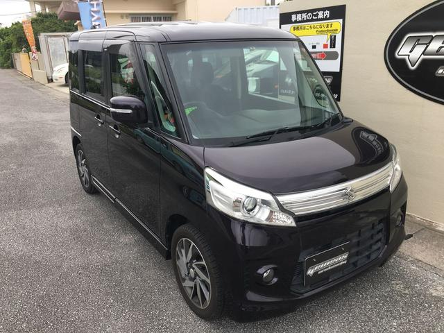 沖縄の中古車 スズキ スペーシアカスタム 車両価格 99万円 リ済込 2015(平成27)年 6.5万km ワインM