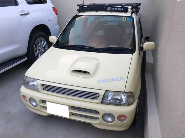 沖縄の中古車 スズキ セルボ・モード 車両価格 50万円 リ済込 1991(平成3)年 7.0万km コットンアイボリー
