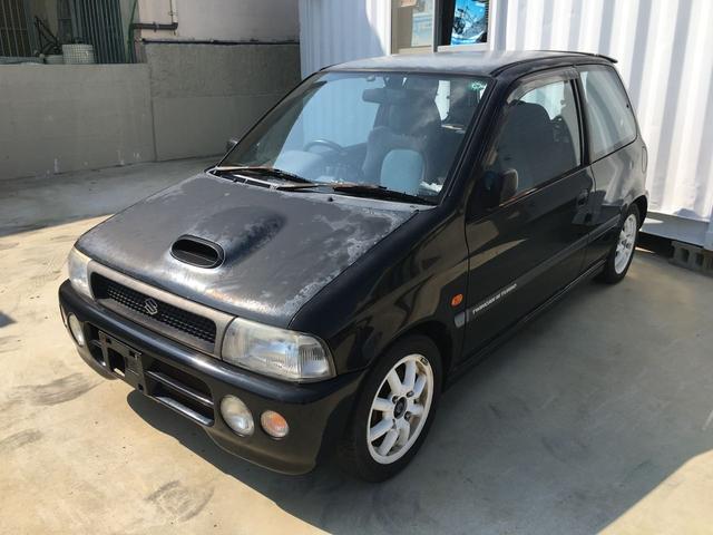 沖縄の中古車 スズキ セルボ・モード 車両価格 10万円 リ済込 1995(平成7)後 13.4万km ブラックM