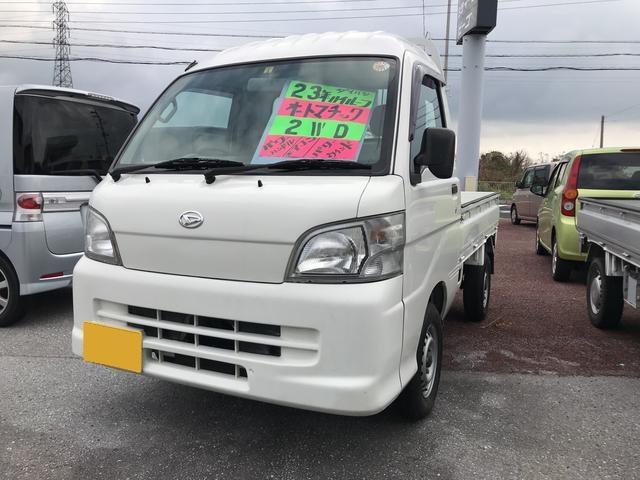 沖縄の中古車 ダイハツ ハイゼットトラック 車両価格 54.3万円 リ済込 2011(平成23)年 15.8万km ホワイト
