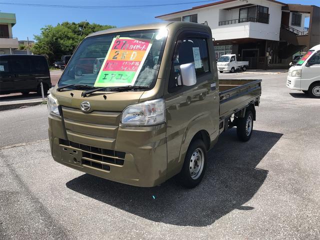 沖縄の中古車 ダイハツ ハイゼットトラック 車両価格 55万円 リ済込 2015(平成27)年 15.2万km グリーン